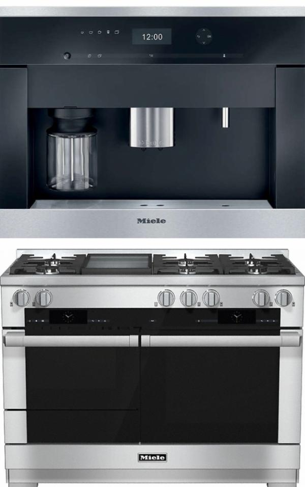 Miele 98003060 HR1956G 120cm Dual Fuel Range Cooker / Free CVA6401 Coffee Machine Pack