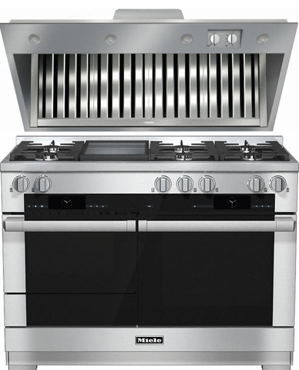 Miele 98003020 HR1956G 120cm Dual Fuel Range Cooker / Free DAR1155 Integrated Hood Pack