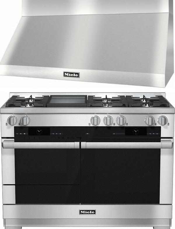 Miele 98003030 HR1956G 120cm Dual Fuel Range Cooker / Free DAR1255 Chimney Hood Pack