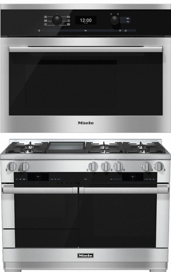 Miele 98003040 HR1956G 120cm Dual Fuel Range Cooker / Free DG6300 Steam Oven Pack