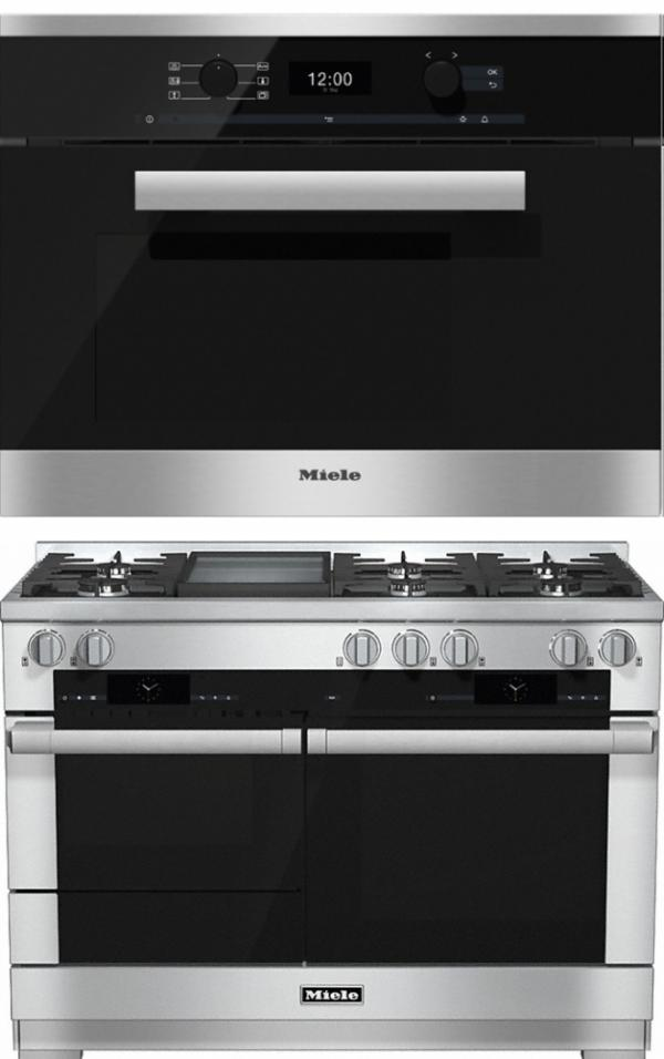 Miele 98003050 HR1956G 120cm Dual Fuel Range Cooker / Free DG6400 Steam Oven Pack