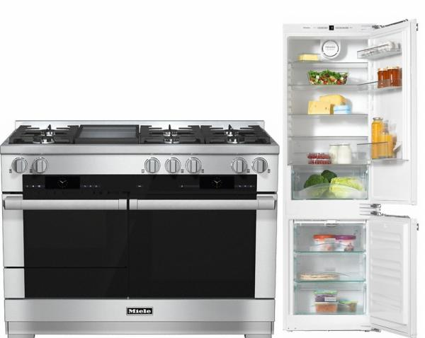 Miele 98003070 HR1956G 120cm Dual Fuel Range Cooker / Free KFN37232iD Built-In Fridge Freezer Pack