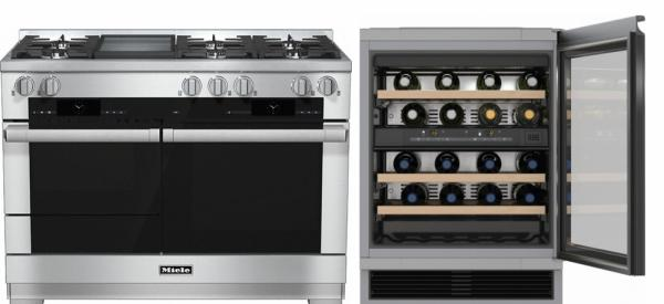 Miele 98003080 HR1956G 120cm Dual Fuel Range Cooker / Free KWT6321UG Built-Under Wine Cooler Pack
