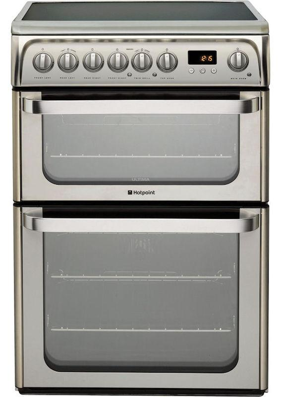 Hotpoint HUE61X Stainless Steel Electric Cooker