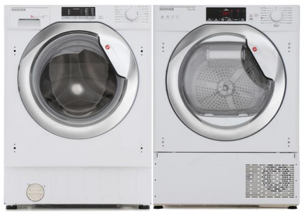 Hoover HBWM915D / HBTDWH7A1TCE - Integrated Washing Machine / Integrated Heat Pump Tumble Dryer Pack