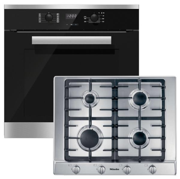 Miele 98002930 H2661BP-1 / KM2010 - Pyrolytic Single Oven / Gas Hob Pack