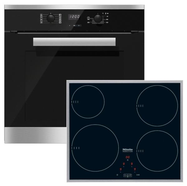 Miele 98002920 H2661BP-1 / KM6115 - Pyrolytic Single Oven / Induction Hob Pack