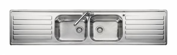 Leisure LX84 Double Bowl and Double Drainer Sink