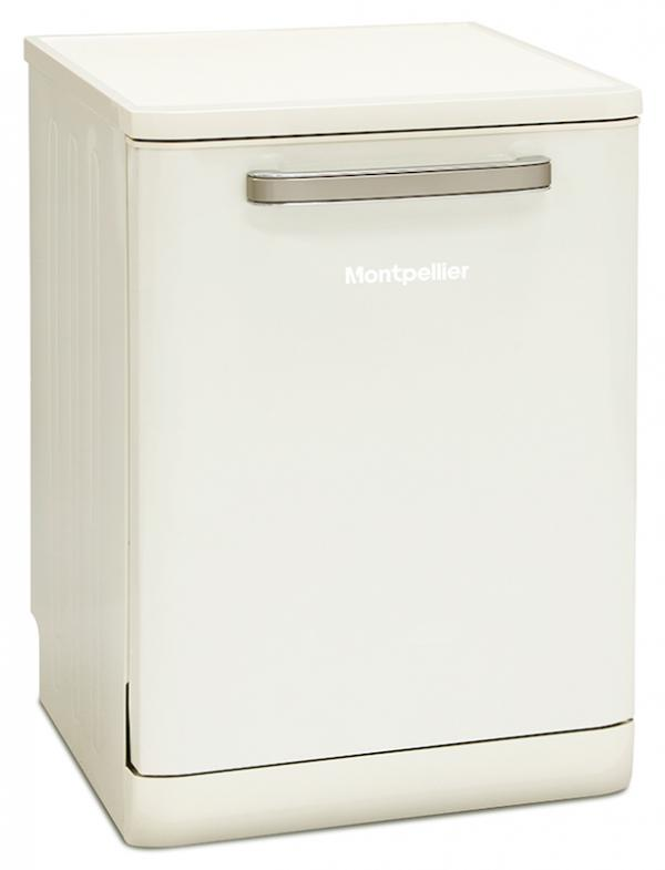 Montpellier MAB600C 60cm Cream Retro Dishwasher