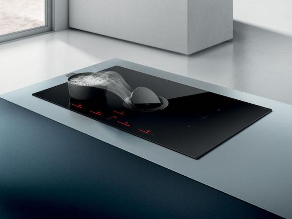 Elica NT-SWITCH-BLK-DO NikolaTesla Switch Black Induction Hob and Ducted Aspiration System