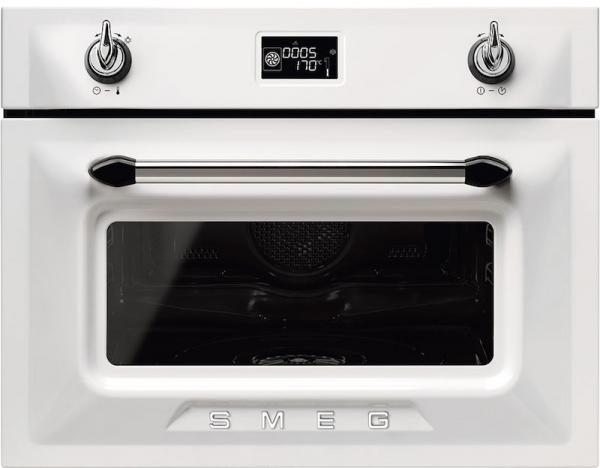 Smeg SF4920VCB1 45cm Built-In White compact steam combination oven