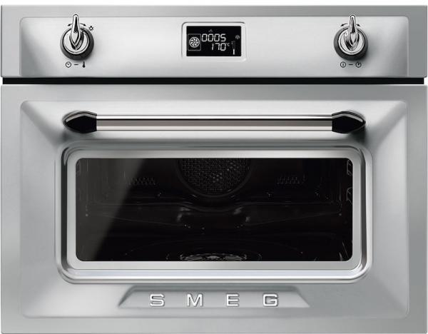 Smeg SF4920VCX1 45cm Built-In Stainless Steel Steam Combi Oven