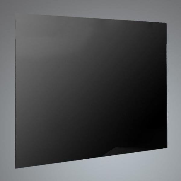 Luxair SP-60-BG 60cm Black Straight Splashback