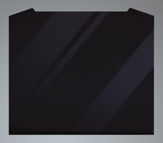 Luxair SP-60-CVD-BG 60cm Black Curved Splashback