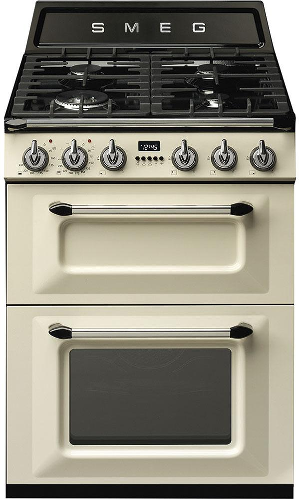 Smeg TR62P 60cm Cream Dual Fuel Cooker