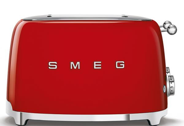 Smeg TSF03RDUK 50's Retro Red 4 Slice Toaster