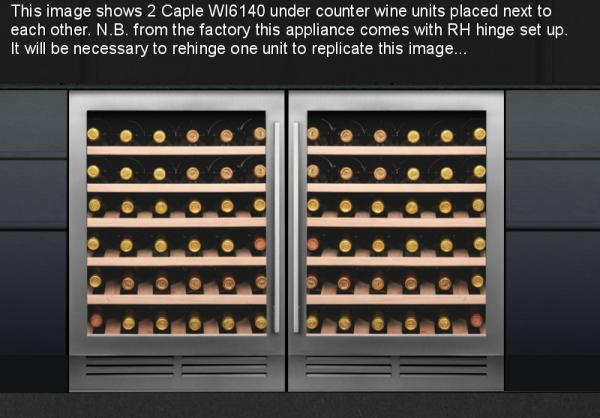 Caple WI6140 Undercounter Single Zone Wine Cabinet Pack