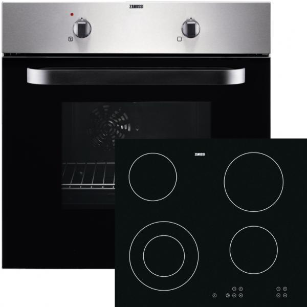 Zanussi ZPVF4130X Single Oven & Ceramic Hob Pack